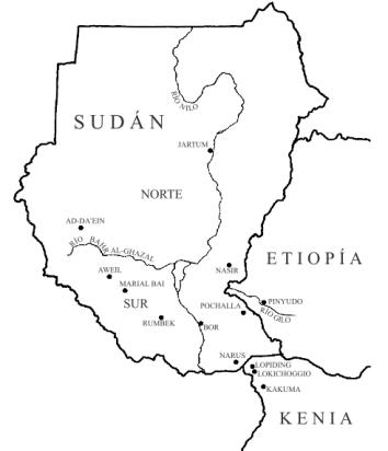 mapa sudán 2